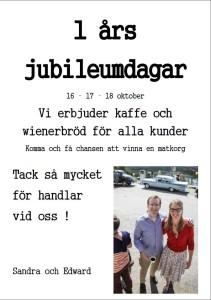 1 års jubileum Nära dej Borgvattnet