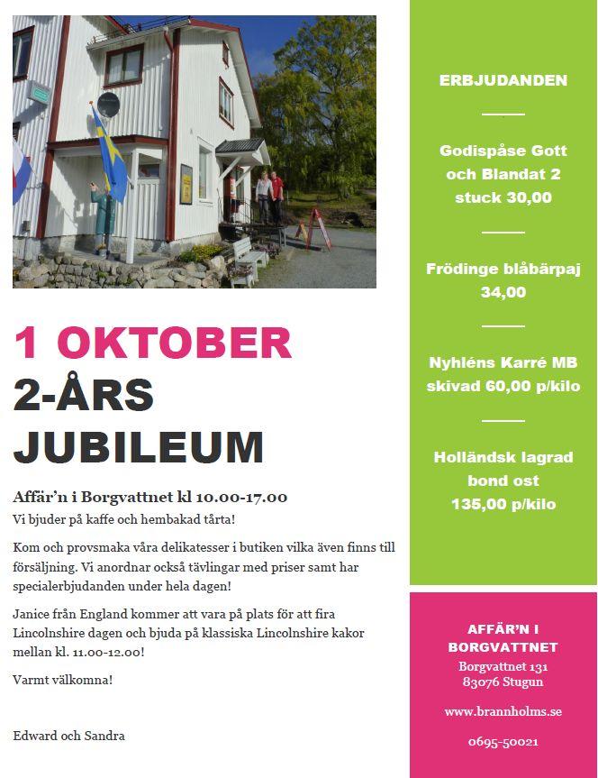 1 oktober 2015 2 års jubileum